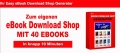 Easy eBook Download Shop Generator mit 40 eBooks - PLR Lizenz